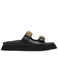 Moschino 40mm Leather Sandals