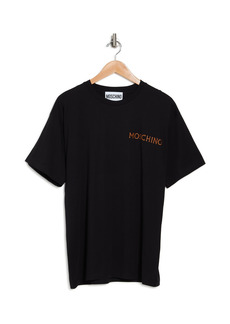 Moschino Black Cotton Logo Tee