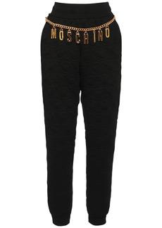 Moschino Cotton Sweatpants W/logo Chain