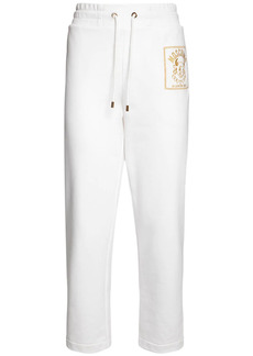 Moschino Logo Embroidery Cotton Jersey Sweatpants