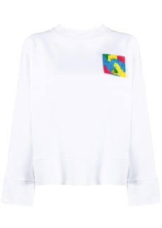 Moschino logo-patch long-sleeve sweatshirt