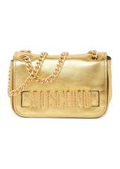 Moschino Metallic Studded Logo Crossbody Bag