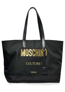 Moschino Logo Nylon Tote