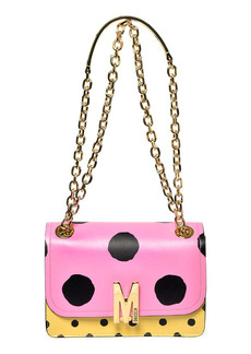 Moschino M Dot Leather Shoulder Bag