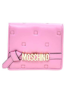 Moschino Quilted Logo Leather Wallet