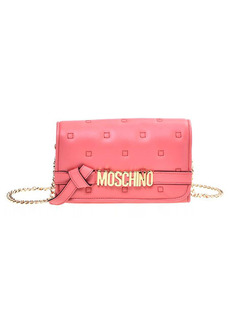 Moschino Quilted Logo Leather Wallet on a Chain