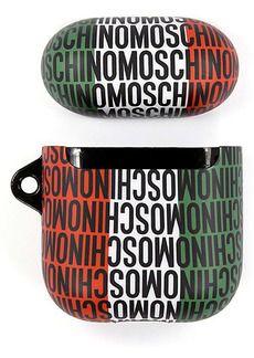 Moschino Small Italian Flag Logo AirPod Case