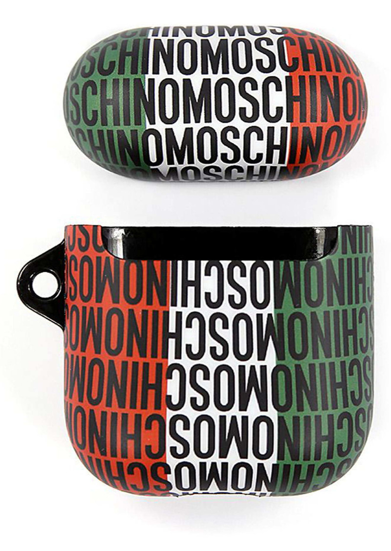 Moschino Small Italian Flag Logo AirPod Case