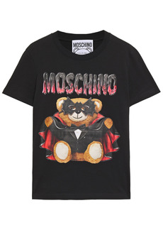 Moschino Woman Printed Cotton-jersey T-shirt Black
