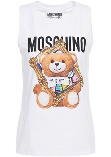 Moschino Woman Printed Cotton-jersey Tank White