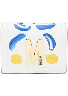 Moschino Woman Printed Leather Wallet White
