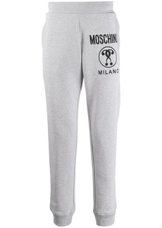 Moschino question logo track pants