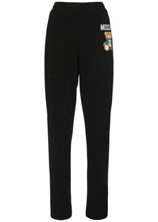 Moschino Teddy Logo Cotton Sweatpants