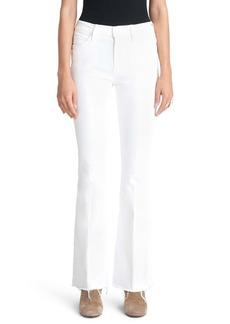 Mother Denim MOTHER High Waist Fray Hem Flare Jeans (Fairest of Them All)