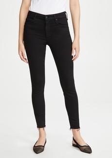 Mother Denim MOTHER Looker Ankle Fray Skinny Jeans