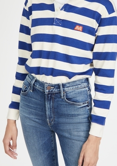 Mother Denim MOTHER The Boxy Polo Crop Tee