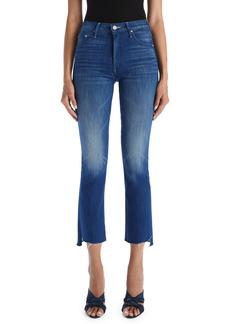 Mother Denim MOTHER The Insider Frayed Step Hem Crop Jeans (Rough Stud)