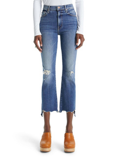 Mother Denim MOTHER The Insider High Waist Crop Step Chew Hem Jeans (Dancing on Coals)