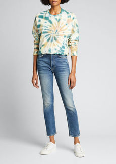 Mother Denim MOTHER The Loafer Cropped Fray Sweatshirt