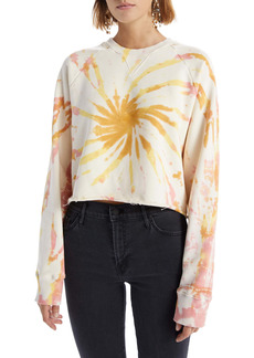 Mother Denim MOTHER The Loafer Tie Dye Crop Sweatshirt