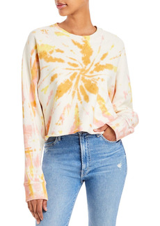 Mother Denim MOTHER The Loafer Tie Dyed Cropped Sweatshirt