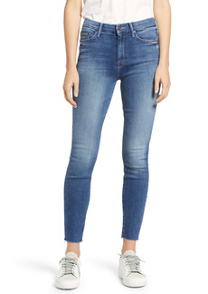 Mother Denim MOTHER The Looker Fray Hem Ankle Skinny Jeans