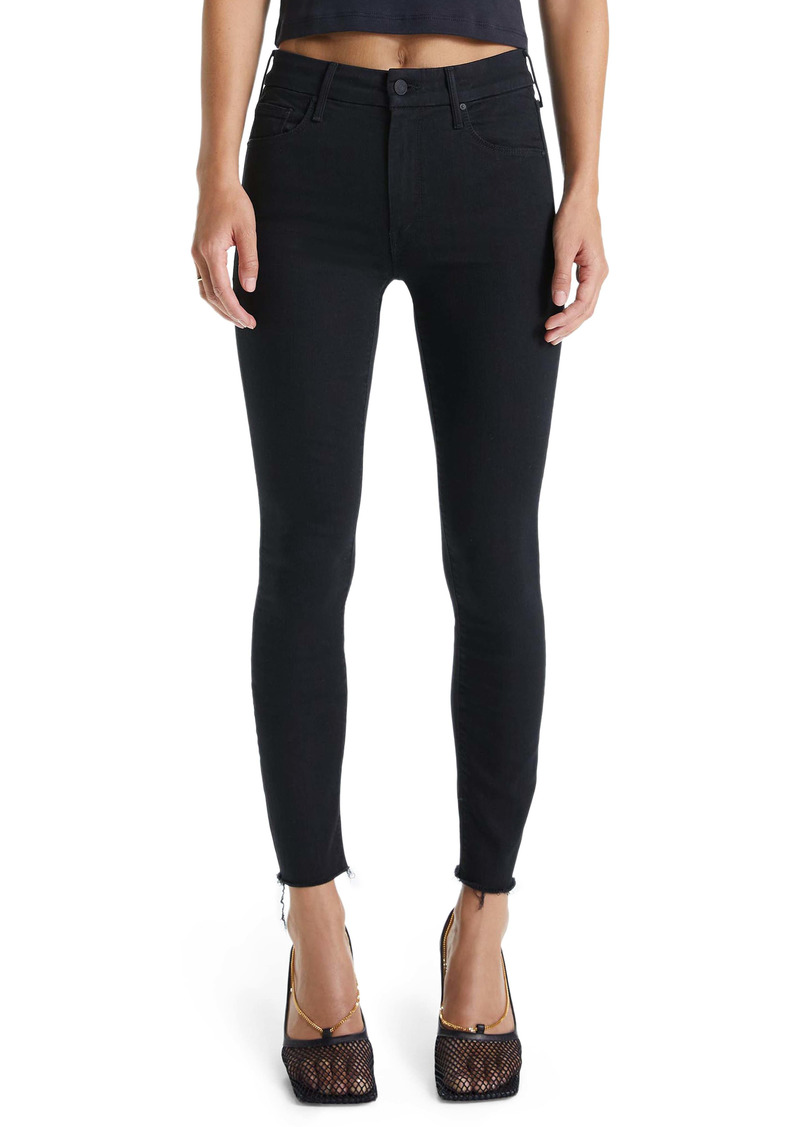 Mother Denim MOTHER The Looker Frayed Ankle Skinny Jeans (Not Guilty)
