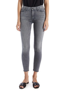 Mother Denim MOTHER 'The Looker' High Rise Frayed Ankle Skinny Jeans (Crash and Burn)