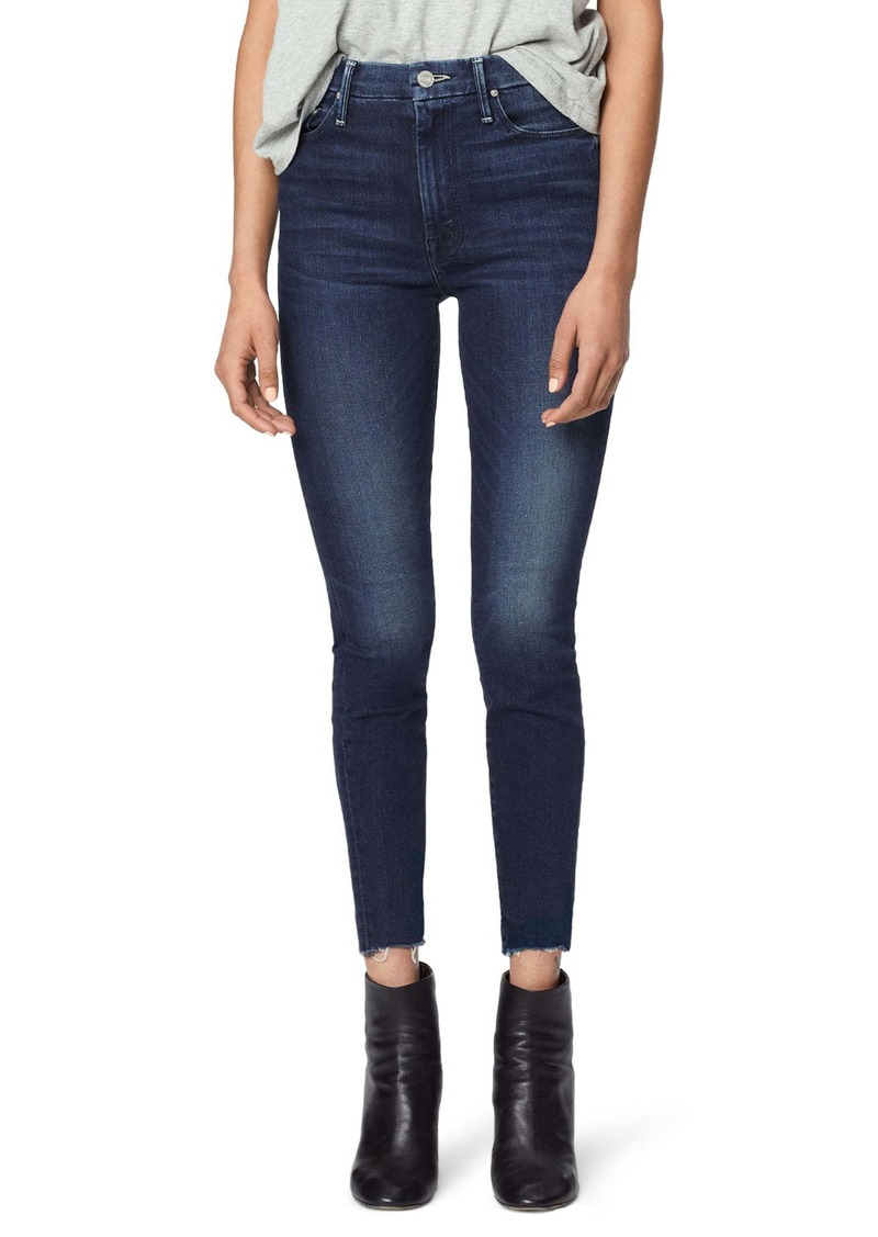 Mother Denim MOTHER The Looker High Waist Fray Ankle Skinny Jeans (Tongue and Chic)