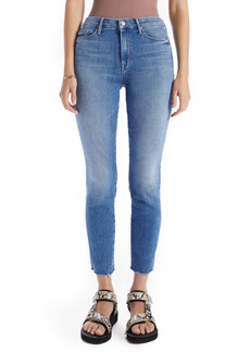 Mother Denim MOTHER The Looker High Waist Frayed Ankle Skinny Jeans (Hey Sun) (Nordstrom Exclusive Color)