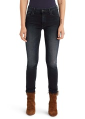 Mother Denim MOTHER The Looker High Waist Frayed Ankle Skinny Jeans (Get Your Groove Back)