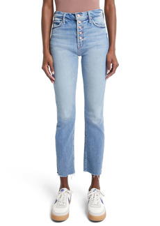 Mother Denim MOTHER The Pixie Dazzler Raw Hem High Waist Ankle Jeans (Au Revoir)