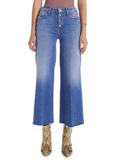 Mother Denim MOTHER The Pixie Roller High Waist Crop Wide Leg Jeans (Let's Kick It)