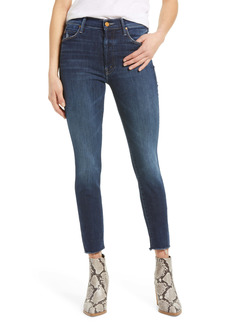 Mother Denim MOTHER The Stunner High Waist Distressed Fray Hem Ankle Skinny Jeans (Teaming Up)