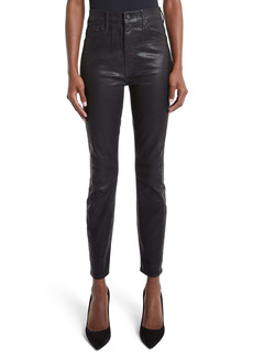 Mother Denim MOTHER The Swooner High Waist Coated Ankle Skinny Jeans