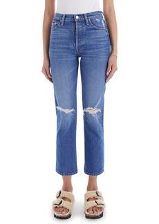 Mother Denim MOTHER The Tomcat High Waist Ripped Crop Straight Leg Jeans