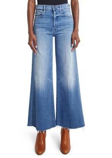 Mother Denim MOTHER The Tomcat Roller High Waist Frayed Wide Leg Jeans (We the Animals)