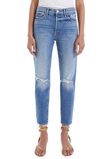 Mother Denim MOTHER The Trickster Ripped Ankle Straight Leg Jeans (On Holy Ground)