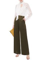 Mother Of Pearl Woman Bridget Satin Wide-leg Pants Army Green