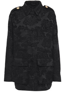 Mother Of Pearl Woman Brooke Chenille-jacquard Jacket Black