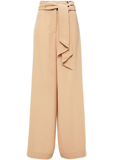Mother Of Pearl Woman Iona Belted Crepe Wide-leg Pants Beige