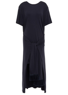 Mother Of Pearl Woman Jody Tie-front Layered Jersey Dress Navy