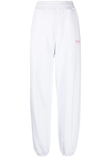 MSGM logo-embroidered loose-fit track pants
