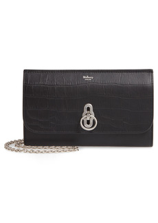 Mulberry Amberley Matte Croc Embossed Leather Clutch - Black