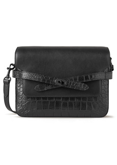 Mulberry Belted Bayswater Croc Embossed Leather Crossbody Bag