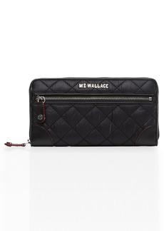 Women's Mz Wallace Long Crosby Wallet - Black