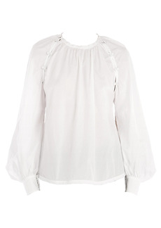 Nº21 Button Balloon-Sleeve Blouse