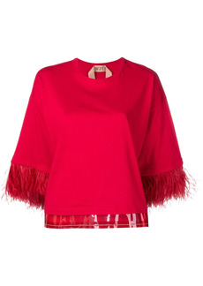 Nº21 feather trim top