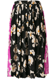 Nº21 floral pleated skirt