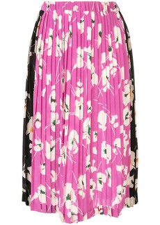 Nº21 floral print pleated skirt